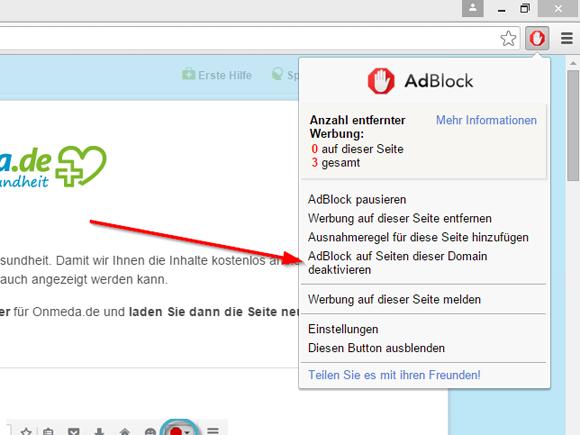adblock plus vorübergehend deaktivieren