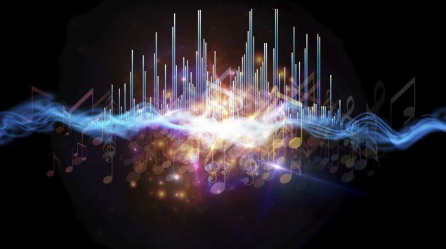 Grafische Darstellung: Amplituden bei Musik.