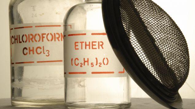 Chloroform und Äther zur Narkose in früheren Zeiten.