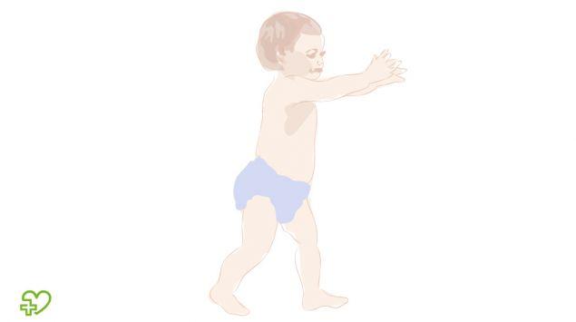 Grafik eines laufenden Babys.