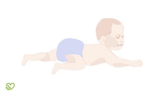 Grafik eines Babys, das rutscht.