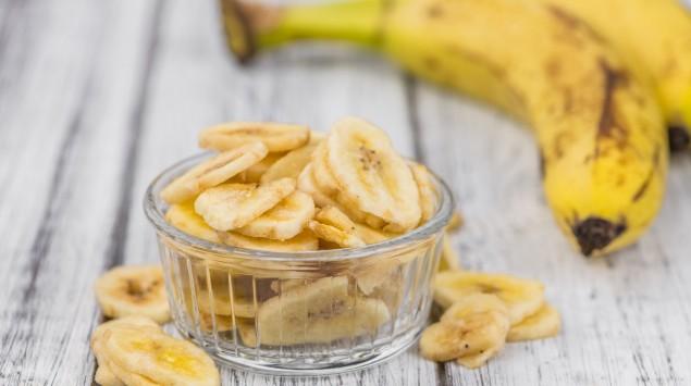 Bananen und Bananenchips