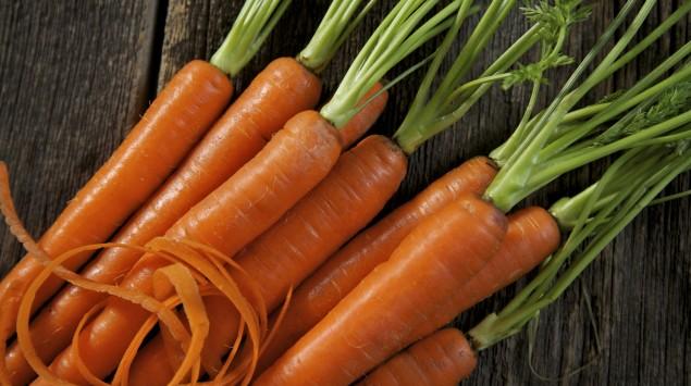 Das Bild zeigt Karotten.