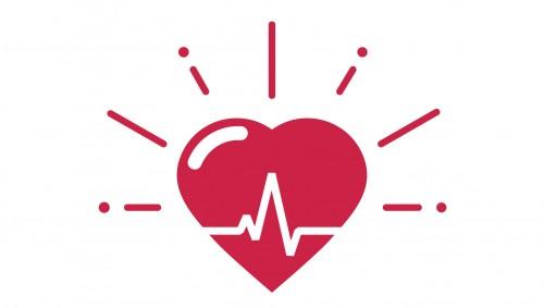 Herz als Symbol für Blutdruck