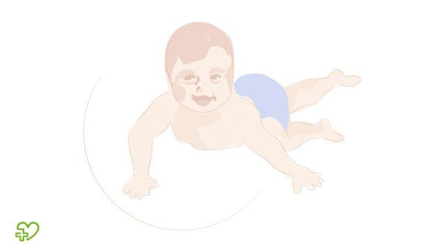 Grafik eines Babys, das sich dreht.