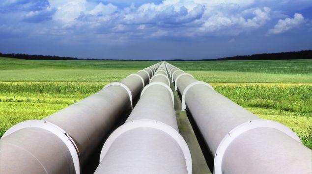 Erdgasleitungen.