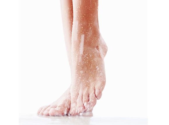 dedos de los pies ducha