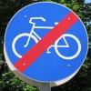 Verkehrsschild: Fahrradverbot
