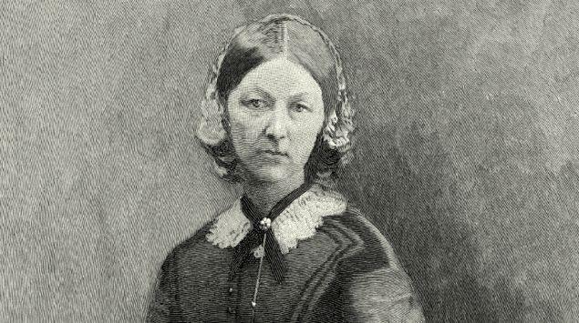 Ein Portrait von Florence Nightingale.