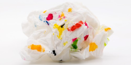 Mouchoir tacheté de couleurs