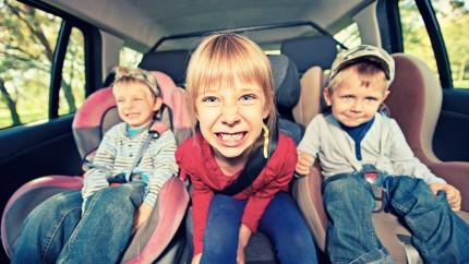 enfants voiture, enfants voyage, enfants trajet