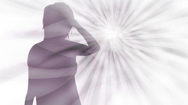 Das Bild zeigt eine illustrierte Frau vor einem sternförmigen Hintergrund.