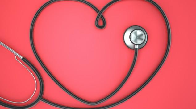 Stethoskop formt ein Herz
