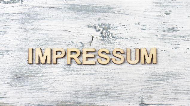 """Man sieht den Schriftzug """"Impressum""""."""