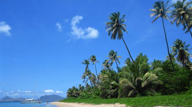 Das Bild zeigt eine Insel in der Karibik.