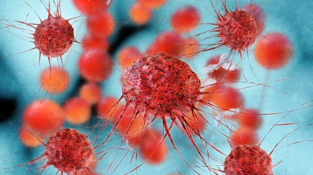 Eine grafische Darstellung von Krebszellen.