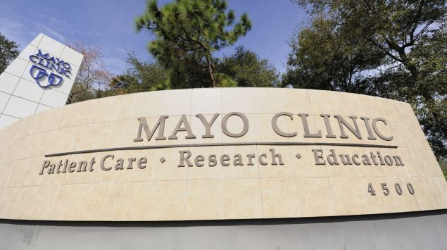 Mayo-Klinik von außen.