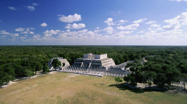 Das Bild zeigt einen Tempel in Mexiko.
