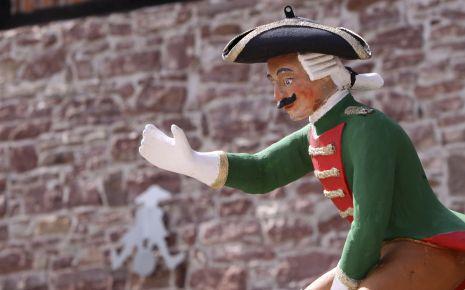 Eine Figur des Barons von Münchhausen.