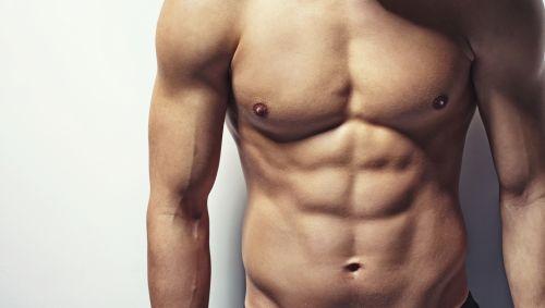 Das Bild zeigt einen muskulösen Oberkörper.