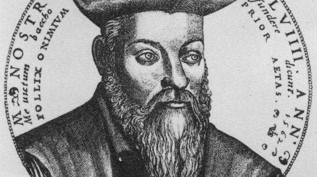 Man siehte eine Zeichnung von Nostradamus.