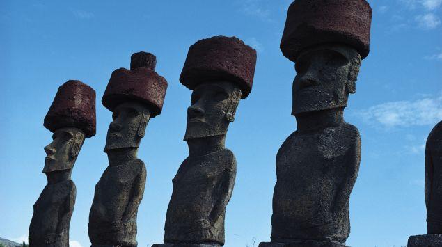 Das Bild zeigt die Osterinsel in Chile.