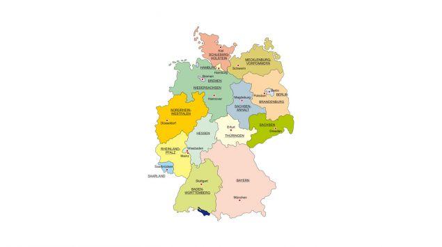 Man sieht eine Deutschlandkarte.
