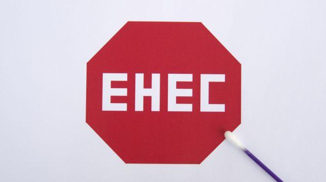 Das Bild zeigt ein Stopschild mit EHEC darauf.