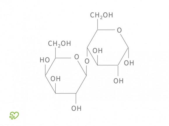 Chemische Formel für Laktose.