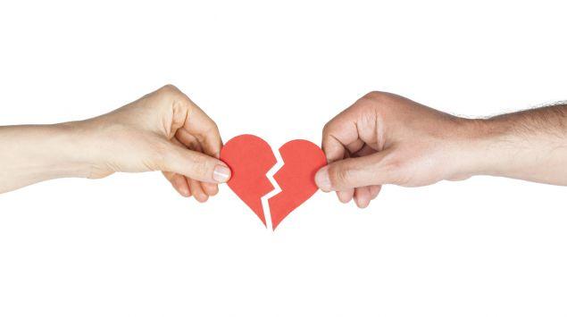 Das Bild zeigt ein Herz aus zwei Teilen.