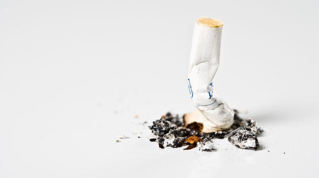 Das Bild zeigt eine ausgedrückte Zigarettte.