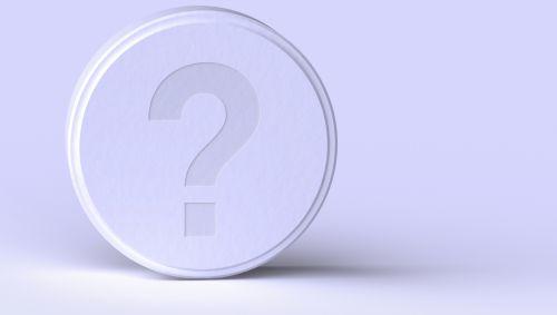 Eine Tablette mit einem Fragezeichen darauf.