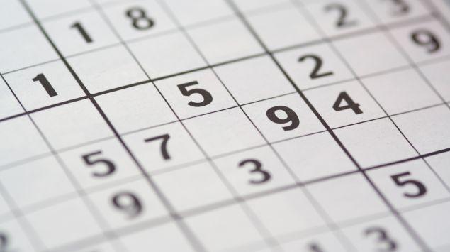 Man sieht ein Sudokufeld.