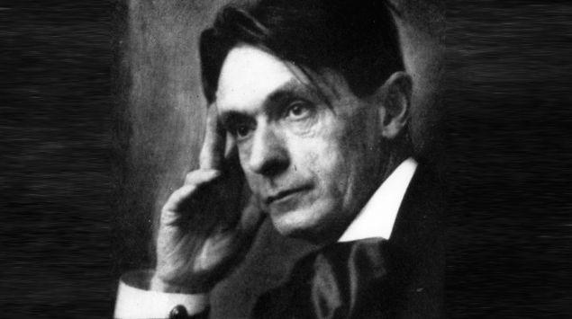 Ein Porträt von Rudolf Steiner.