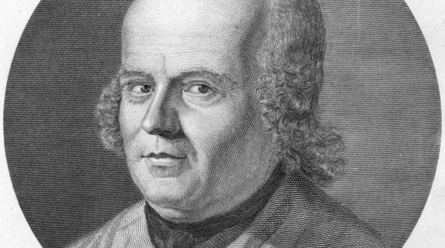 Ein Porträt von Christian Friedrich Samuel Hahnemann.