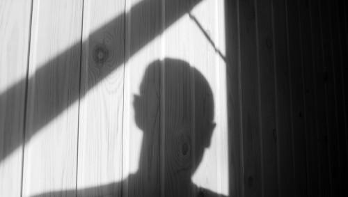 Der Schatten eines Mannes.