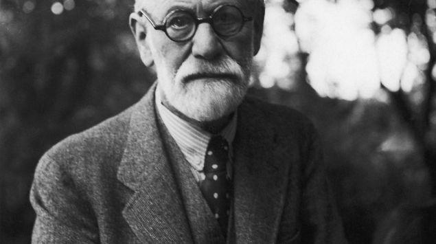 Man sieht eine Aufnahme von Sigmund Freud.