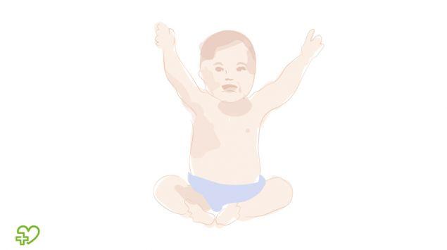 Grafik eines sitzenden Babys.