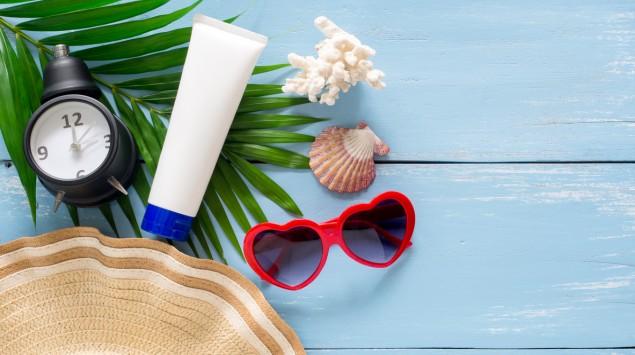 Utensilien zum Sonnenschutz