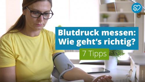 """Screenshot zum Video """"Blutdruck messen. Wie geht's richtig? 7 Tipps"""""""