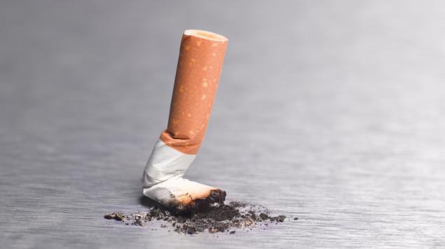 Rauchstopp: Die letzte Zigarette ist ausgedrückt.